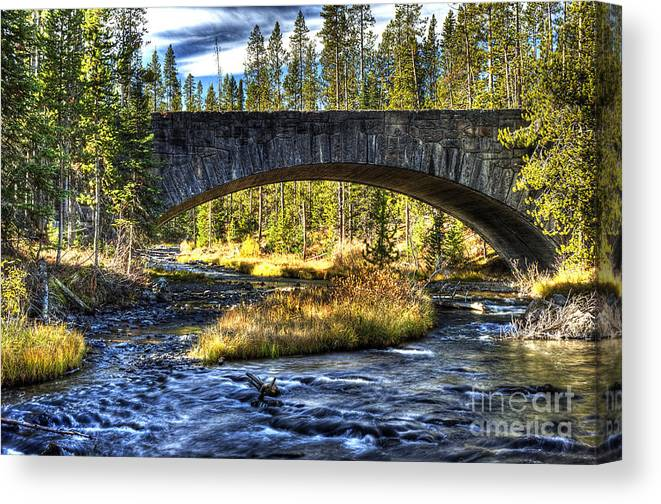 Places Canvas Print featuring the photograph Grasshopper Creek by Dennis Hammer