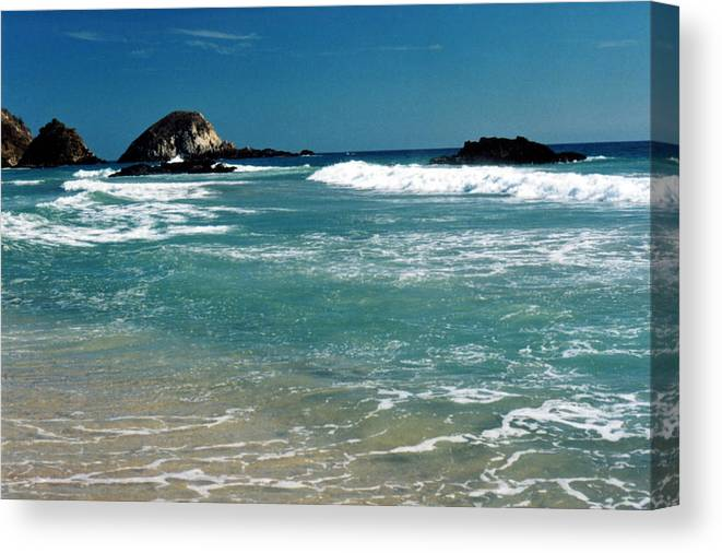 Pacific Canvas Print featuring the photograph Green Waters Of The Pacific 2 by Lyle Crump