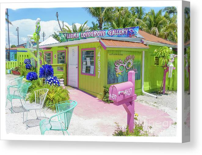 Florida Canvas Print featuring the photograph Greetings From Matlacha Island Florida by Edward Fielding
