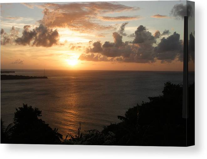 Grenada Canvas Print featuring the photograph Grenadian Sunset I by Jean Macaluso