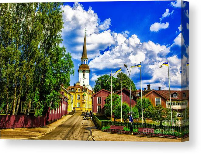 Sweden Gripsholm Churches Canvas Print featuring the photograph Gripsholm Church by Rick Bragan