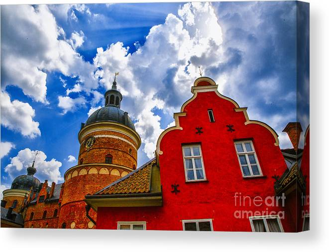 Sweden Mariefred The Old Slott Canvas Print featuring the photograph Gripsholm Culture by Rick Bragan