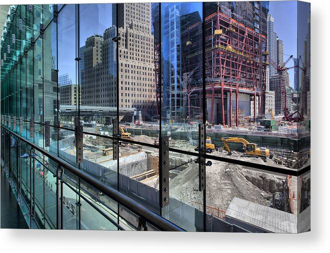 Ground Zero Canvas Print featuring the photograph Ground Zero From World Financial Center by Robert Ullmann