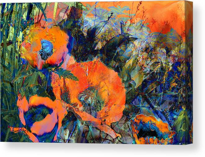 Flowers Canvas Print featuring the painting Happy Poppies by Anne Weirich