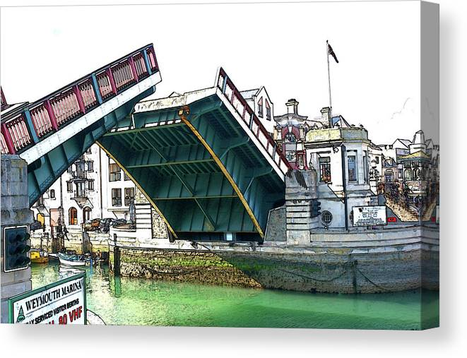 Weymouth Canvas Print featuring the photograph Harbour Bridge by Paul Hemmings