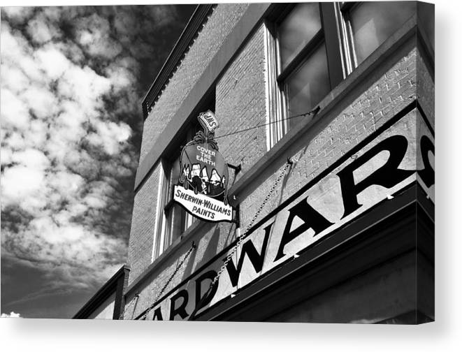 Fine Art Photography Canvas Print featuring the photograph Hardware by David Lee Thompson