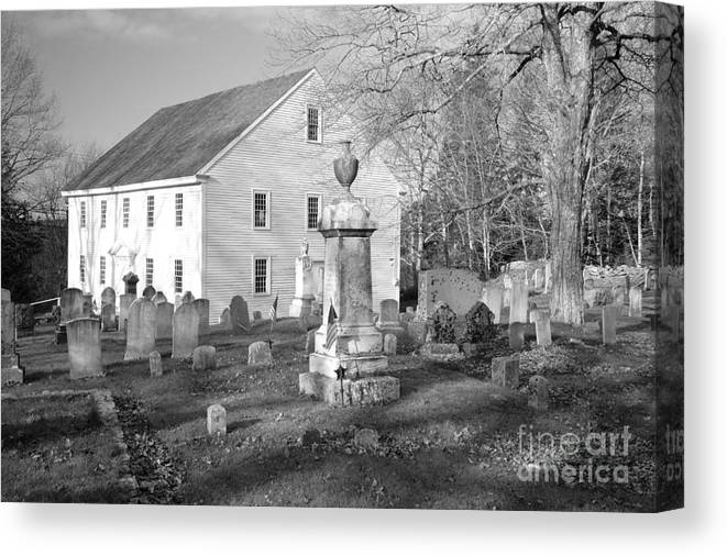Maine Canvas Print featuring the photograph Harrington Meetinghouse -bristol Me Usa by Erin Paul Donovan
