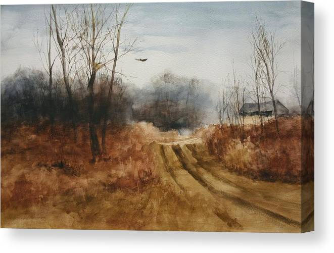 Landscapes Canvas Print featuring the painting Hawks Nest by Don Cull