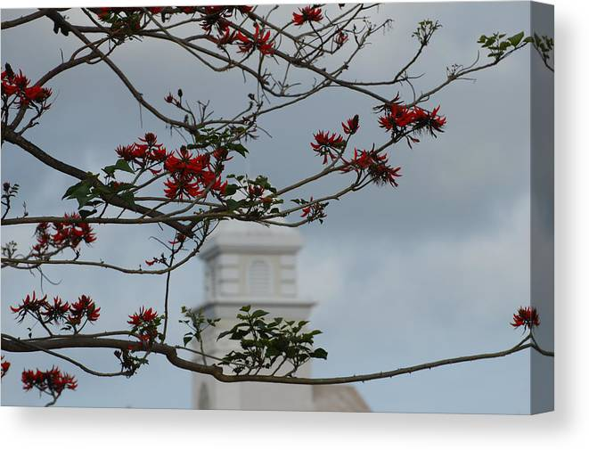 Tower Canvas Print featuring the photograph Hazy Tower by Jean Booth