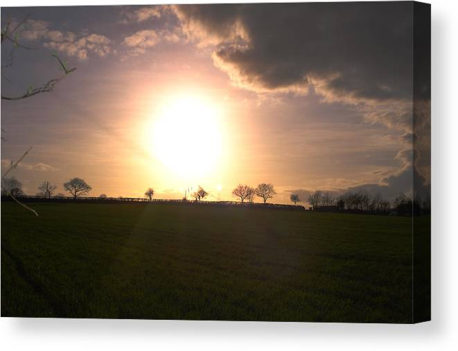 Sunset Canvas Print featuring the photograph Heavenly Sunset Over Suffolk by Susan Baker