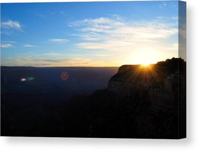 Time Canvas Print featuring the photograph Hello Grand Canyon by Ruben Barbosa