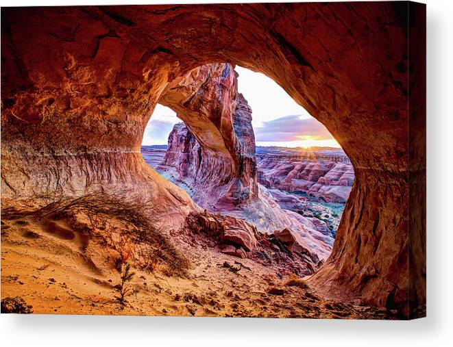 Hidden Canvas Print featuring the photograph Hidden Alcove by Chad Dutson
