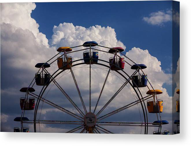 Ferris Wheel Canvas Print featuring the photograph High In The Sky by Toni Hopper