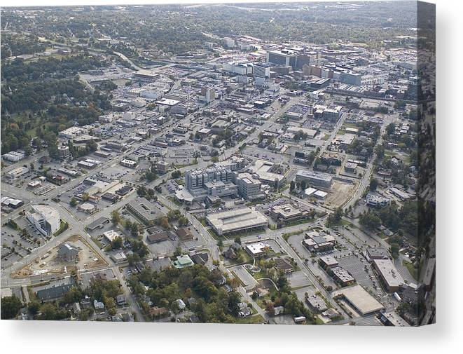 High Point Canvas Print featuring the photograph High Point Nc Aerial by Robert Ponzoni