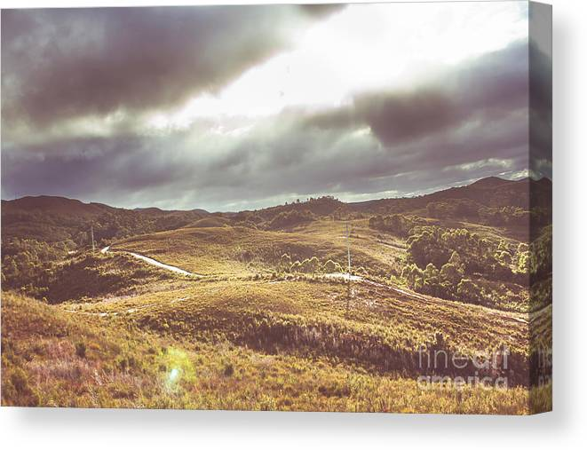 Outback Canvas Print featuring the photograph Hills And Outback Tracks by Jorgo Photography - Wall Art Gallery