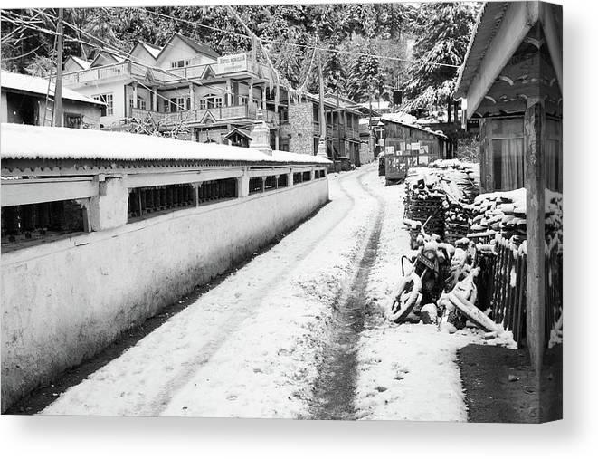 Nepal Canvas Print featuring the photograph Himalayan Winter Scene by Aidan Moran