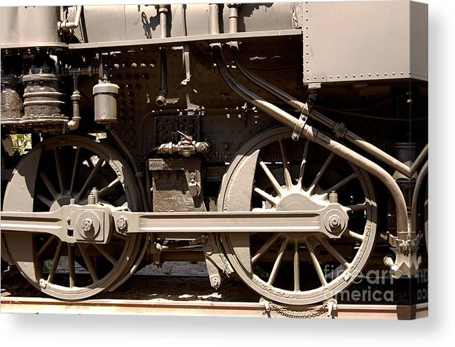 Clay Canvas Print featuring the photograph Historic Trains by Clayton Bruster