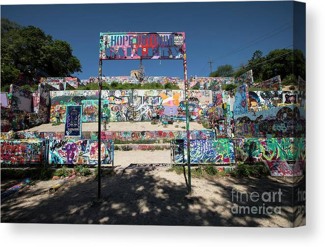 Hope Outdoor Gallery Austin Texas Graffiti Wall Canvas Print