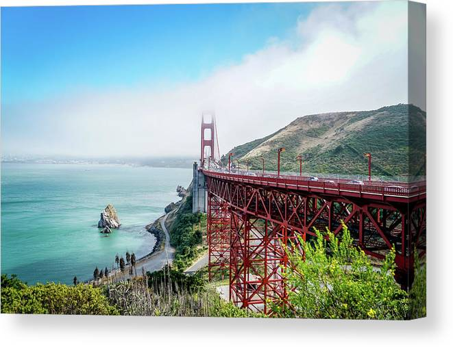 Bridge Canvas Print featuring the photograph Iconic Bridge by Ric Schafer