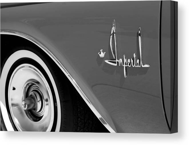 Car Canvas Print featuring the photograph Imperial by Audrey Venute