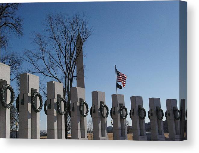 America Canvas Print featuring the photograph In Rememberance by Veron Miller