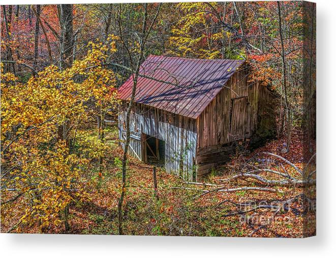 #barn Canvas Print featuring the photograph In The Wood by Rick Mann