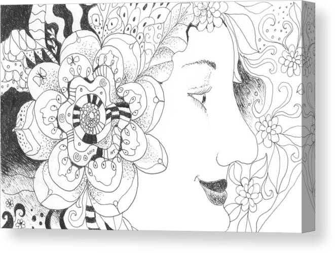 Life Canvas Print featuring the drawing Innocence And Experience by Helena Tiainen