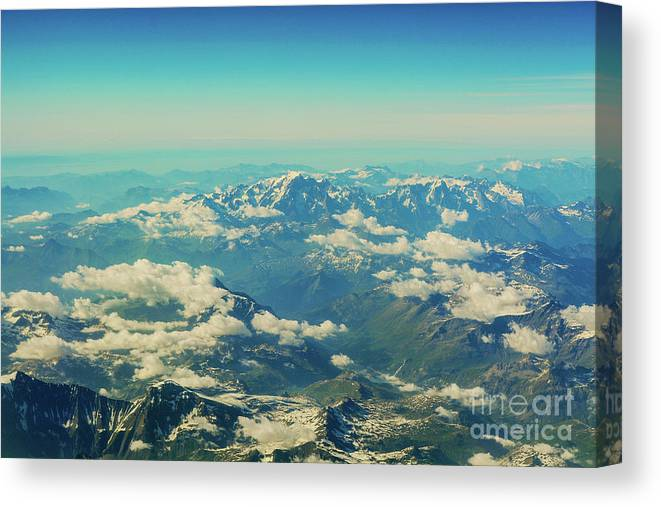 Italian Alps Canvas Print featuring the photograph Italian Alps by Luis Botaro