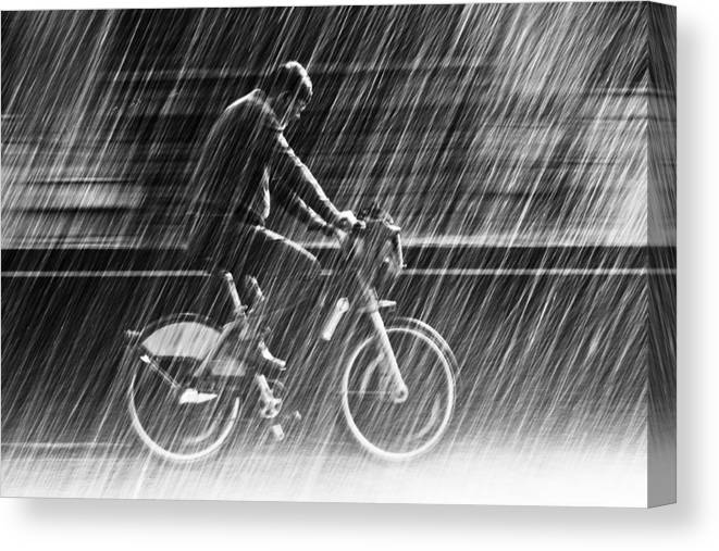 Street Canvas Print featuring the photograph It's Raining Cats And Dogs by Christian Muller