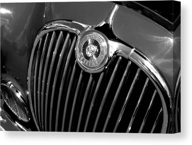 Car Canvas Print featuring the photograph Jaguar by Audrey Venute