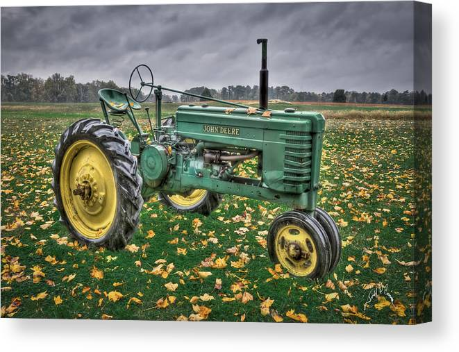 John Deere Tractors Canvas Print featuring the photograph John Deere 2 by Williams-Cairns Photography LLC