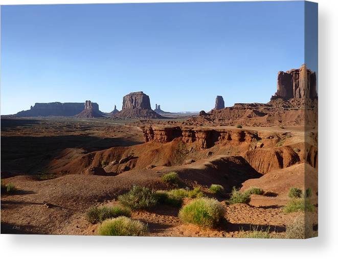 John Ford Point Canvas Print featuring the photograph John Ford Point by Gordon Beck