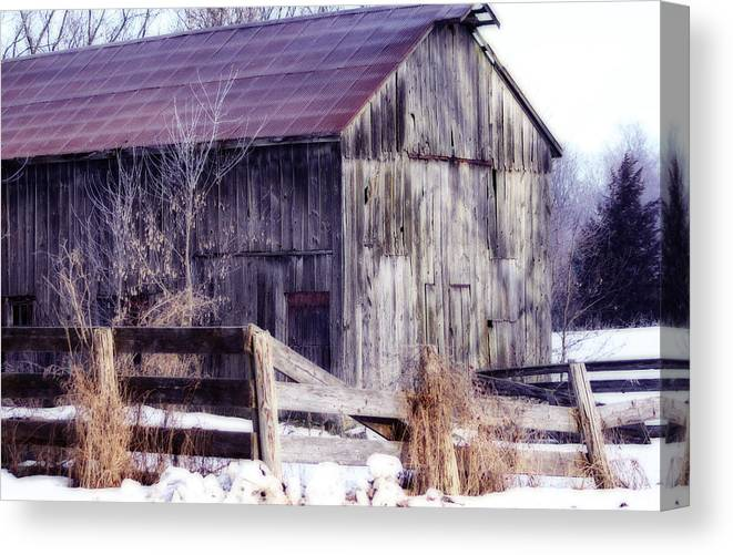Barn Canvas Print featuring the photograph Just A Little Tlc Barn by Cathy Beharriell