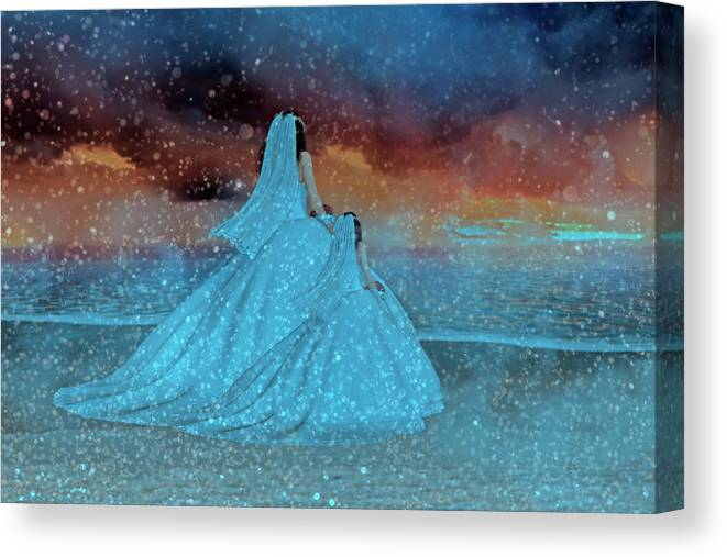 Wedding Canvas Print featuring the digital art Just Like Mom IIi by Betsy Knapp