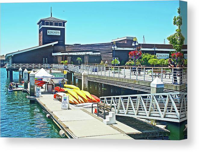 Kincaid S Restaurant In Jack London Square In Oakland California Canvas Print