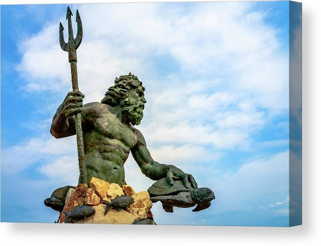 Landscape Canvas Print featuring the photograph King Neptune by Michael Scott