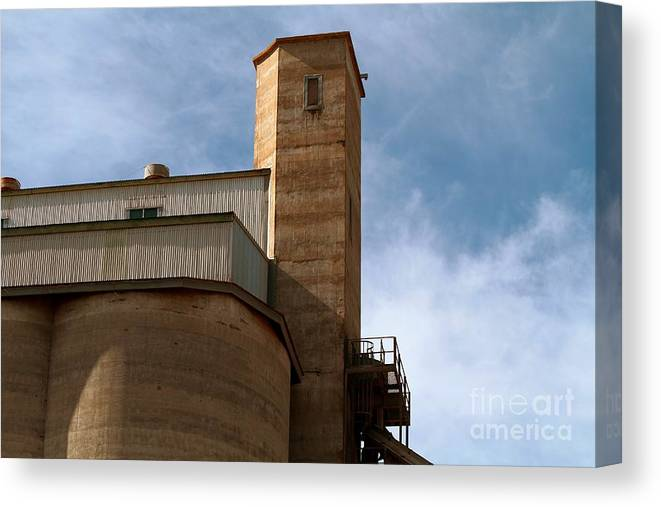 Silo Canvas Print featuring the photograph Kingscote Castle by Stephen Mitchell