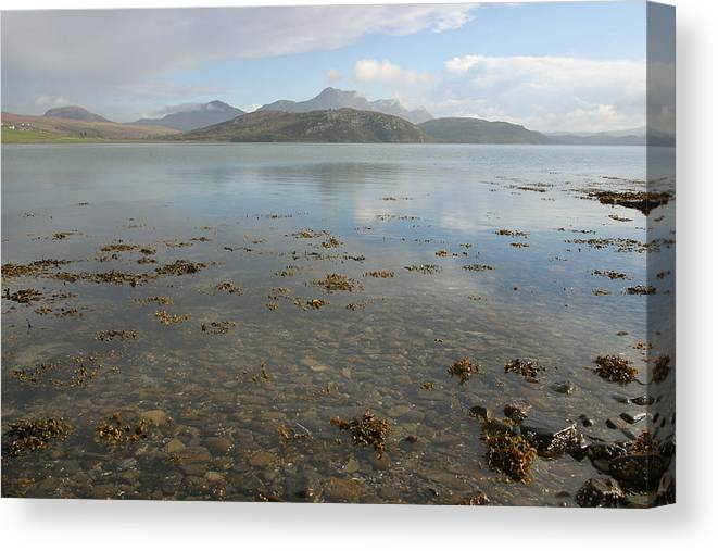Kyle Canvas Print featuring the photograph Kyle Of Tongue Scotland by Mike Bambridge