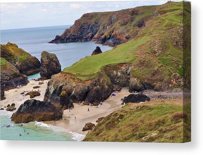 Cornwall Canvas Print featuring the photograph Kynance Cove by Andrea Everhard