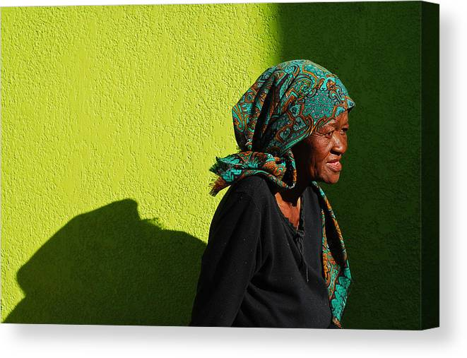 Africa Canvas Print featuring the photograph Lady In Green by Skip Hunt