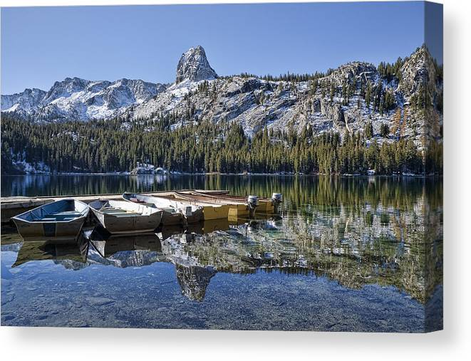 Water Canvas Print featuring the photograph Lake George by Kelley King