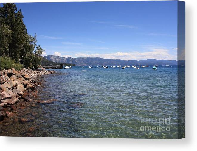 Lake Tahoe Canvas Print featuring the photograph Lake Tahoe by Carol Groenen