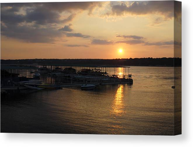 Sunset Canvas Print featuring the photograph Lake Travis Sunset Over Carlos N Charlies by David Thompson