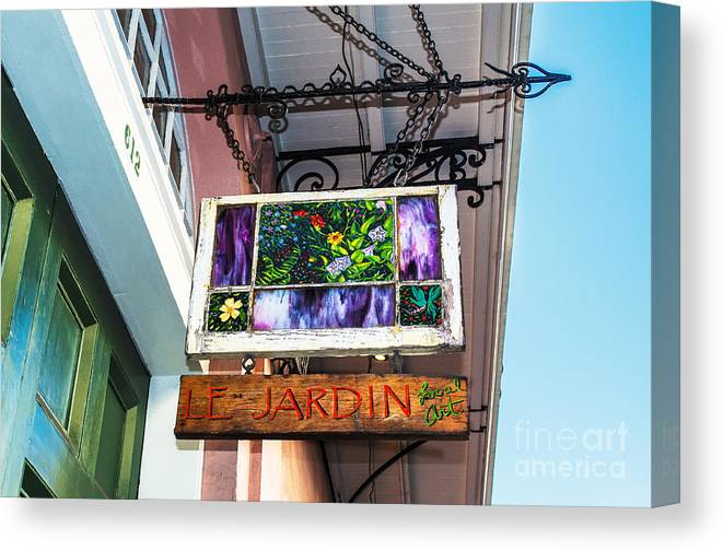 Le Jardin Canvas Print featuring the photograph Le Jardin Fine Art by Frances Ann Hattier