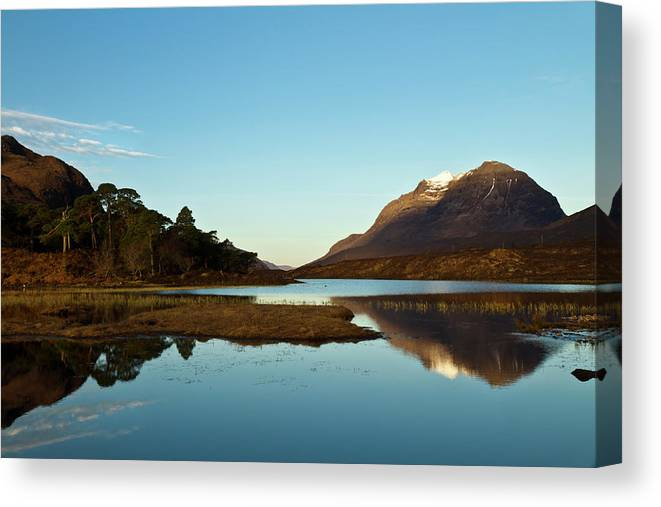 Liathach Canvas Print featuring the photograph Liathach Sunrise Reflections by Bill Buchan