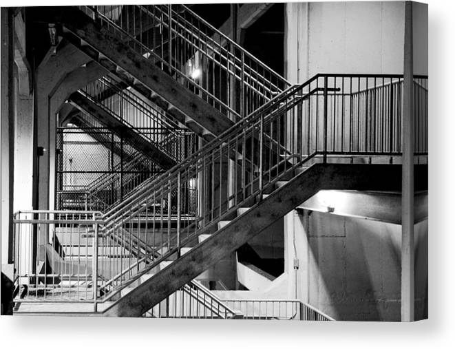 Stairs Canvas Print featuring the photograph Lines by Greg Fortier