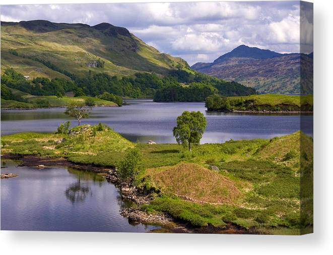 Scotland Canvas Print featuring the photograph Loch Katrine And Ben Venue by John McKinlay