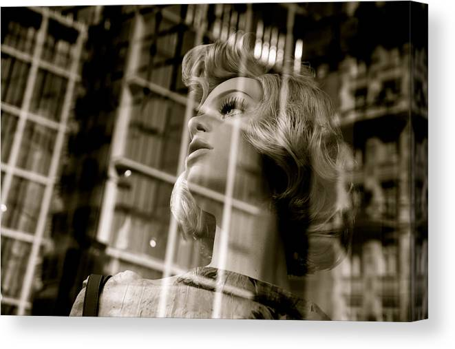 Jezcself Canvas Print featuring the photograph Locked In by Jez C Self