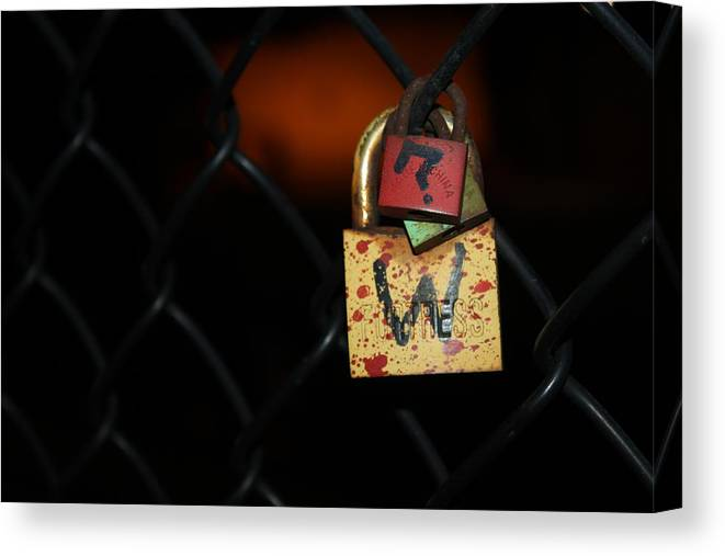 Lock Canvas Print featuring the photograph Locked Questions by Lauri Novak