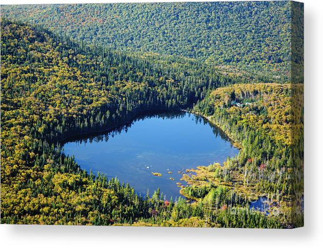 Autumn Canvas Print featuring the photograph Lonesome Lake - White Mountains New Hampshire Usa by Erin Paul Donovan